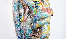 "Lynda Benglis. ""Phantom,"" 1971. Polyurethane foam with phosphorescent pigments; 102 x 420 x 96 inches. Union Art Gallery, Kansas State University, Manhattan, Kansas."