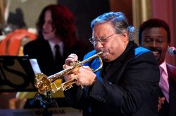 Arturo Sandoval performs for President Barack Obama and First Lady Michelle O...