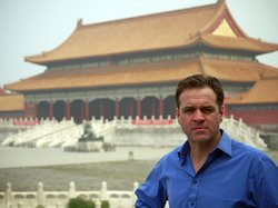 Historian Niall Ferguson at the Forbidden City, China.
