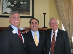 Dave Roberts, Steve Danon and Carl Hilliard at a debate at the Rancho Bernardo Country Club, April 22, 2012