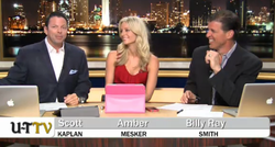 UT-TV hosts Scott Kaplan, Amber Mesker and Billy Ray Smith in their first bro...