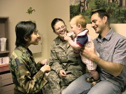 Military family visits doctor