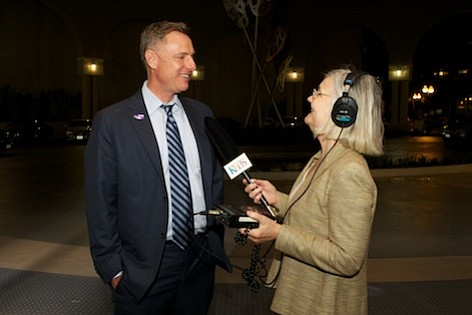 Scott Peters talks to KPBS reporter Alison St. ...