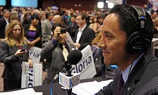Todd Gloria talks to KPBS reporters at Golden H...