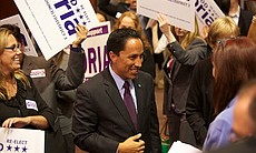 Todd Gloria surrounded by supporters at Golden ...
