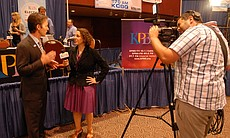 KPBS reporter Katie Orr interviews City Council... (17180)