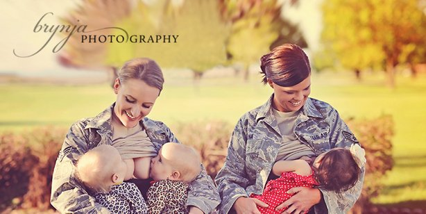 Mom2Mom military women breastfeeding