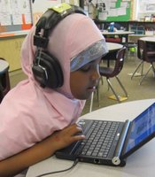 A student at Fay Elementary.