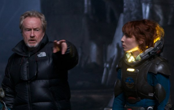 "Ridley Scott directs Noomi Rapace in ""Prometheus."""