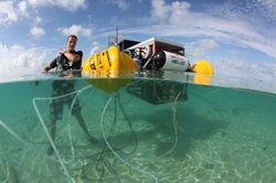 Underwater lab, designed to monitor effects of ocean acidification on coral r...
