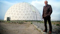 Theoretical physicist, Jim Al-Khalili at Maragheh Observatory in Iran.