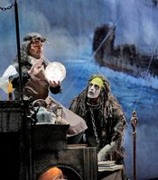 "David Daniels as Prospero and Luca Pisaroni as Caliban from Shakespare's ""The Tempest."""