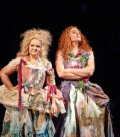 Elizabeth DeShong as Hermia and Layla Claire as Helena.