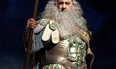 Plácido Domingo stars as Neptune, god of the seas.