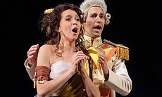 "Lisette Oropesa as Miranda and Anthony Roth Constanzo as Ferdinand in ""The Enchanted Island."""