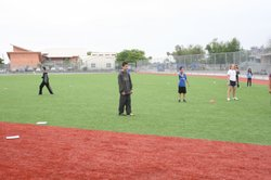 This park on Montezuma Road is covered with artificial turf, which may be the...