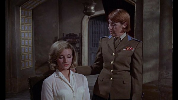 "Daniela Bianchi as Tatiana and Lotte Lenya as Rosa Kleb in ""From Russia With Love."""