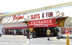 The entrance to Slots-A-Fun on the Strip in Las Vegas, 2007.