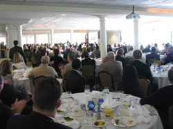 Members of SDMAC, a business group that advocates for military interests, gather to hear the latest report on the military's economic impact in San Diego, June 20th 2012