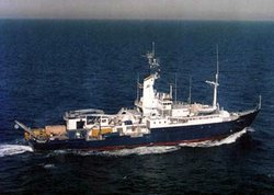 Scripps Institution of Oceanography's research vessel Melville.
