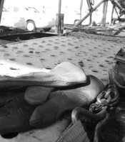Gutierrez's gloves lie in the bed of his truck in National City Terminal on June 20, 2012.