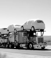The Waggoner truck, along with the Volkswagen Golf R, makes its way north on I-15 before hitting a massive traffic jam on Friday, June 20, 2012.