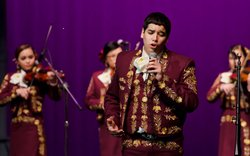 Students from Mariachi Halcon, a top-ranked competitive high-school mariachi band in the rural ranching town of Zapata, Texas.
