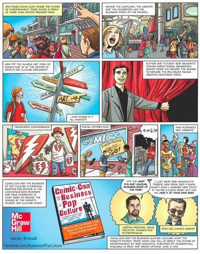 "The clever press release for the new book ""Comic-Con and the Business of Pop Culture."""