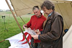 Michael Wood at the Battle of Naseby re-enactment day.