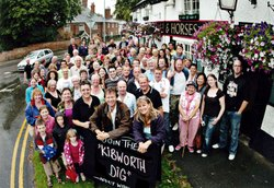 Michael Wood at front with Kibworth Dig group.