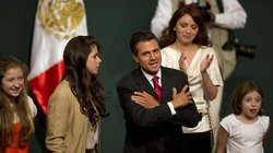 Enrique Peña Nieto and his family celebrated in Mexico City after he claimed victory in the presidential election.