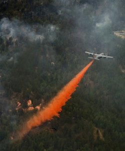 C-130 fighting the Waldo Canyon fire in Colorado
