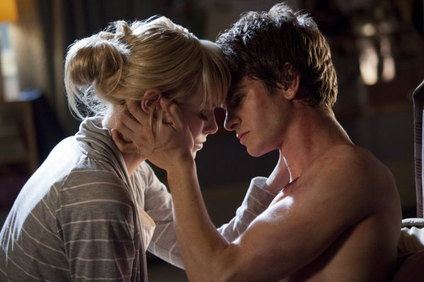 "Emma Stone and Andrew Garfield in ""The Amazing Spider-Man."""