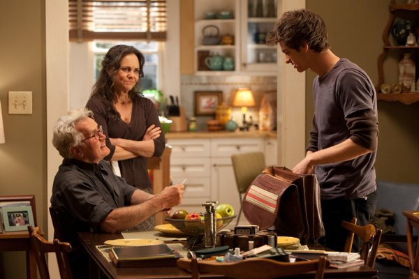 "Martin Sheen, Sally Field and Andrew Garfield in ""The Amazing Spider-Man."""
