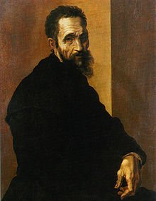 Portrait of Michelangelo by Jacopino del Conte at the age of 60.