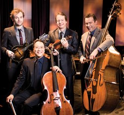 The Goat Rodeo musicians (l-r) Chris Thile, Yo-Yo Ma, Stuart Duncan and Edgar...