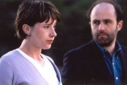 Tina Kellegher as Niamh and Lorcan Cranitch as Sean Dillon from the television series BALLYKISSANGEL.