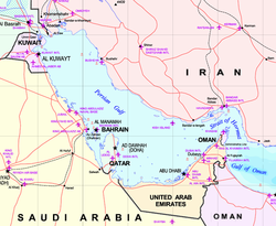 Map of the Persian Gulf