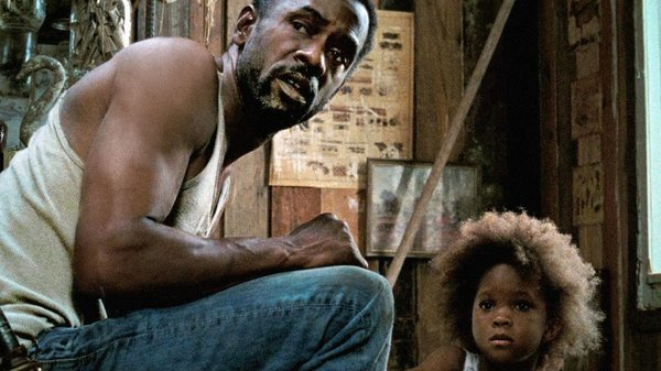 "Dwight Henry and Quvenzhané Wallis play father and daughter in ""Beasts of the Southern Wild."""