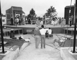 "The Moonlight Amphitheater seen here during a production of ""Oklahoma"" in 1982, the second year of what was then known as the ""Vista Summer Theatre Festival."""