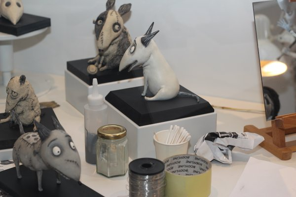 "The ""Frankenweenie"" booth provided insight into what goes into making a stop motion animation."