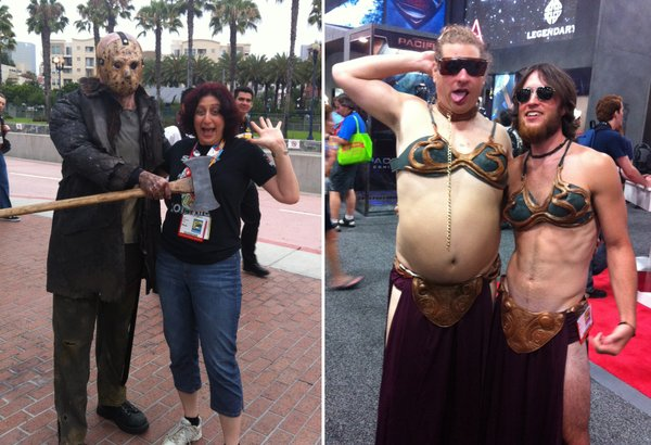 Jason Vorhees and I; the male slave Leia's.