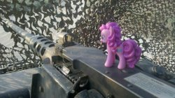 Military Brony showing his love for Pinkie Pie