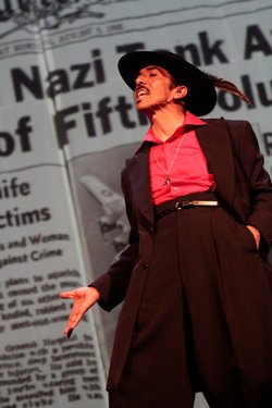 "Raul Cardona as El Pachuco in ""Zoot Suit"" at the San Diego Rep."