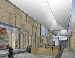Illustrated plans for Barnes' new museum facility in Philadelphia.