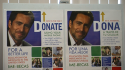 IME Becas Fundraising Campaign Poster