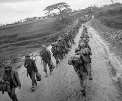 Soldiers in Okinawa, May 8, 1945 (VE-Day).