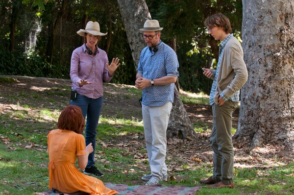 "On the set of ""Ruby Sparks."""