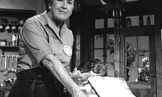 Julia Child is credited with introducing French cooking techniques to mainstream America in THE FRENCH CHEF, which began in 1963. Here, she shows viewers how to make French bread.
