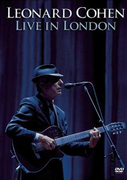 """Give at the $75 level during our TV membership campaign and receive the """"Leonard Cohen Live in London"""" DVD. This gift also includes enrollment in the myKPBS Savers Club plus additional online access to more than 130,000 merchant offers and printable coupons, as well as a KPBS License Plate Frame (if you're a new member). There is 2-CD set available at the $90 level, and a combo package at the $125 level."""